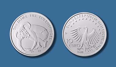 Neue 10 Euro Münze 2011 Till Eulenspiegel Archiv Münzenwoche