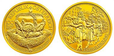 100 Euro Münze Der österreichische Erzherzogshut Archiv