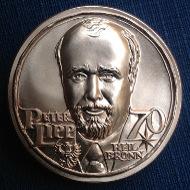 Avers der Medaille mit dem Porträt <b>Peter Lipps</b>. - 12640_5ecd7268