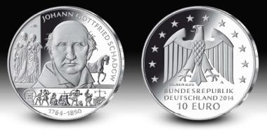 Ausgabepreis Sammlermünze Schadow Archiv Münzenwoche