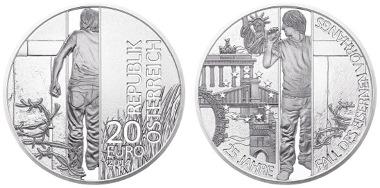 Münze österreich Feiert Den Fall Des Eisernen Vorhangs Vor 25 Jahren