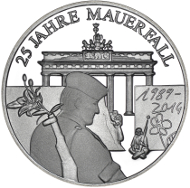 Gedenkprägung Zu 25 Jahre Mauerfall Archiv Münzenwoche