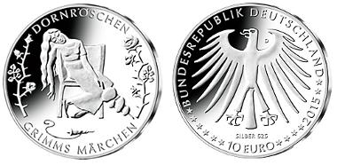 Dornröschen Schläft Auf Neuer 10 Euro Sammlermünze Archiv