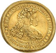 zehn dukaten münze von 1648