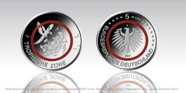Anprägung Der Neuen 5 Euro Polymer Münze Erfolgt Archiv Münzenwoche