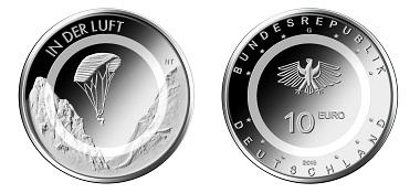 Anprägung Der Ersten 10 Euro Münze Mit Polymerring News Münzenwoche
