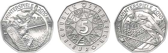 Coole Euro Münzen Zu Den Winterspielen 2010 Archiv Münzenwoche
