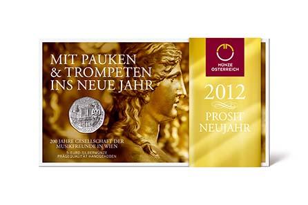 Münze österreich Gibt Neujahrsmünze In Silber Und Kupfer Aus