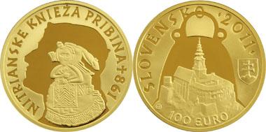 Slowakei Gibt 100 Euro Goldmünze Für Fürst Pribina Von Nitra Heraus