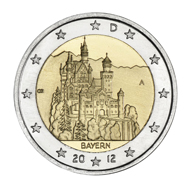 Schloss Neuschwanstein Auf Bayern Münze Archiv Münzenwoche