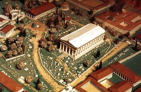 olympische ringe der antike ruine