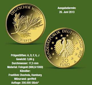 Erstausgabepreis Der 20 Euro Goldmünze Kiefer Archiv Münzenwoche